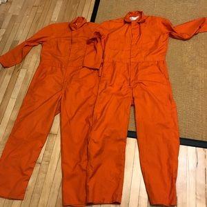 Pair 2 Orange is the New Black Jumpsuit Overalls